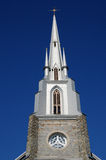Quebec, the historical church of Riviere du Loup Stock Photo