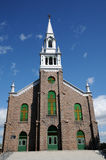 Quebec, the historical church of  Saint Ambroise Royalty Free Stock Photos