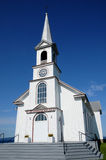 Quebec, the historical church of Saint Georges de Malbaie Royalty Free Stock Photos