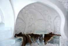 Quebec ice hotel interior Royalty Free Stock Photo
