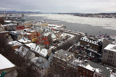 Quebec im Winter Stockbild