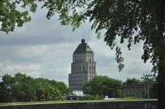 Quebec, 29 Juni: De Bouw van de gebouwprijs van de Oude Stad van Quebec in Canada Stock Afbeeldingen