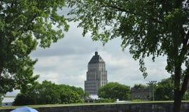 Quebec, 29 Juni: De Bouw van de gebouwprijs van de Oude Stad van Quebec in Canada Royalty-vrije Stock Afbeeldingen