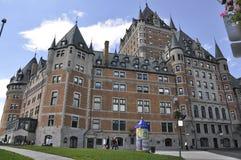 Quebec, 29 Juni: Frontenackasteel van de Stad van Quebec in Canada Royalty-vrije Stock Afbeeldingen