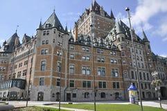 Quebec, 29 Juni: Frontenackasteel van de Stad van Quebec in Canada Stock Foto