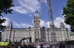 Quebec, 29 Juni: Parlementsgebouw van de Stad van Quebec in Canada Stock Afbeeldingen