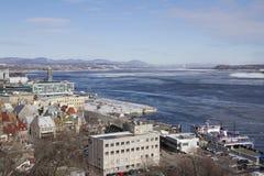 Quebec Kanada, Luty, - 03, 2016: Stary Quebec miasto Lawr i St Zdjęcia Royalty Free