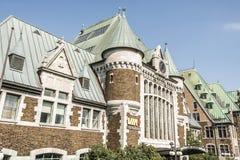 Quebec, Kanada - 12 09 2017 - Widok Gare Du Palais, Quebec centrali dworzec Rozpieczętowana 1915 dziedzictwo stacja kolejowa Fotografia Royalty Free