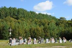 Quebec kyrkogården av Tadoussac Fotografering för Bildbyråer