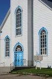 Quebec, la iglesia histórica de Baie Sainte Catherine Imagen de archivo