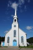 Quebec, la iglesia histórica de Baie Sainte Catherine Imagen de archivo libre de regalías
