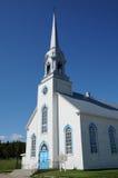 Quebec, la iglesia histórica de Baie Sainte Catherine Foto de archivo libre de regalías