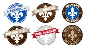 Quebec label designs Royalty Free Stock Image