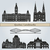 Quebec landmarks and monuments Royalty Free Stock Photography