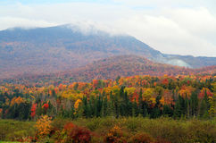 Quebec landscape in fall stock photography