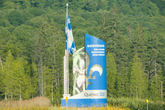 Quebec landskaptecken - Kanada Royaltyfria Foton