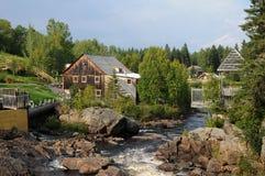 Quebec, le Moulin des Pionniers in La Dore Stock Photos