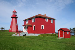 Quebec, the lighthouse of La Martre in Gaspesie Royalty Free Stock Photography