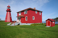 Quebec, the lighthouse of La Martre in Gaspesie Royalty Free Stock Image