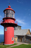 Quebec, the lighthouse of Pointe a la Renommee in Gaspesie Stock Image