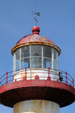 Quebec, the lighthouse of Sainte Madeleine de la Riviere Madelei Stock Photography