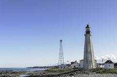 Quebec  Lighthouse And Village Royalty Free Stock Image