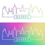 Quebec linia horyzontu Kolorowy liniowy styl Zdjęcie Royalty Free