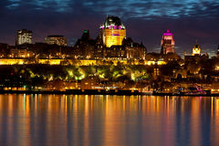 Quebec. Look about the Sankt Lorenz Strom to Quebec Stock Image