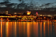 Quebec. Look about the Sankt Lorenz Strom to Quebec Royalty Free Stock Photography