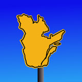 Quebec map warning sign Royalty Free Stock Image