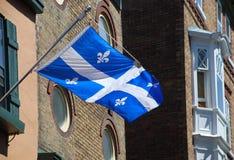 Quebec-Markierungsfahne Stockfotos