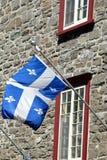 Quebec-Markierungsfahne Lizenzfreie Stockbilder
