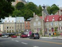 Quebec miasta, Quebec, Kanada nadbrzeże rzeki obraz royalty free