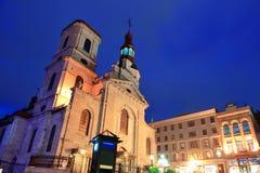 Quebec miasta stara ulica Obraz Stock