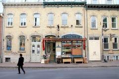 Quebec Miasta Ulicy Widok fotografia stock