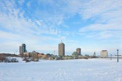 Quebec miasto Obrazy Royalty Free