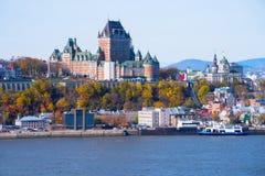 Quebec miasto w spadku zdjęcia royalty free