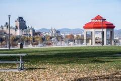 Quebec miasto w spadku z Gazabo obrazy stock