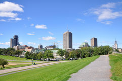 Quebec Modern City Skyline, Canada Royalty Free Stock Photography