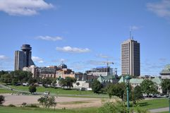 Quebec Modern City Skyline, Canada Stock Photography