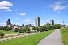 Quebec Modern City Skyline, Canada Royalty Free Stock Image