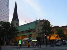 QUEBEC Montreal cathedrale av ruesainte catherine Arkivfoto
