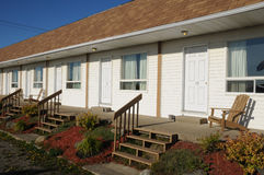 Quebec, a motel in Cap Chat in Gaspesie Stock Photography
