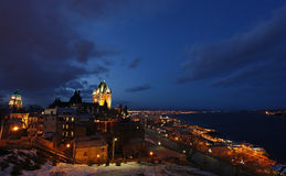 Quebec Old City and the Saint Lawrence River stock photos