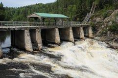 Quebec, Parc de la Caverne Trou de la Fee in Desbiens Stock Image