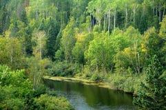 Quebec, park Le Moulin Des Pionniers w losie angeles Dore obraz stock