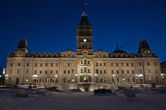 Quebec parliament building Royalty Free Stock Photos