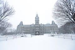 Quebec parliament Hôtel du Parlement in winter Stock Images