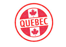 QUEBEC. Passport-style QUEBEC rubber stamp over a white background Royalty Free Stock Photography