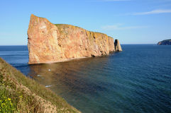 Quebec, Perce Rock in Gaspesie Royalty Free Stock Photography